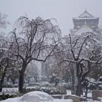 大阪城の雪景色2014年2月14日