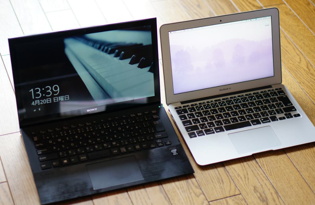 MacBook Airとvaio pro比較
