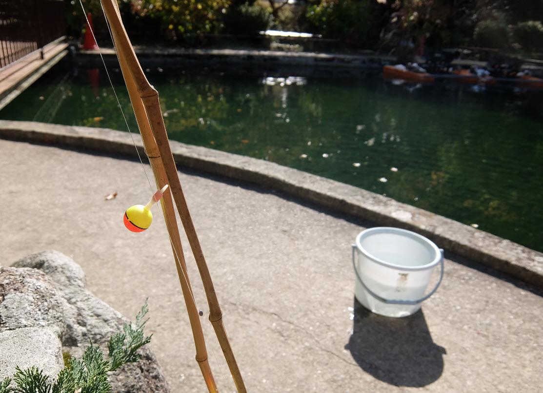 有馬温泉のマス釣り