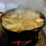 丹波篠山の猪鍋 岩屋に行って来た赤味噌出汁のボタン鍋めちゃ美味しい