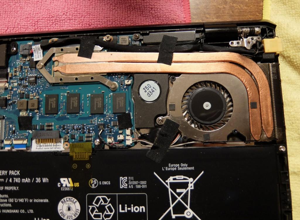 VAIO Pro13 CPUファン異音 分解修理
