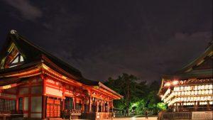 京都の夏~八坂神社から花見小路夜の散歩スナップ写真