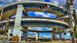 大阪南港フェリーとめがね橋大阪市内の写真|HDRハイダイナミックレンジ