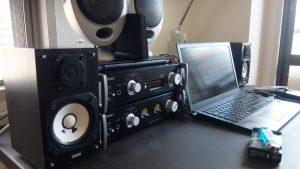 ヤマハNS-10MMをデスクトップオーディオ用スピーカーに小さくてもいい感じ