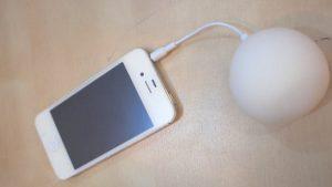 球体ポータブルスピーカーでiPhoneやスマホiPodに手軽に大音量を