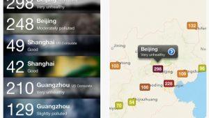 中国の大気汚染度合いがわかるアプリChina Air Pollution Index入れてみた