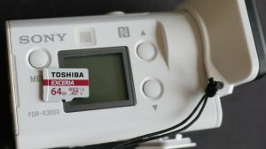 SONYの4K動画とハイスピード用SDカード間違えなると撮影できませんRX100M5とFDR-X3000